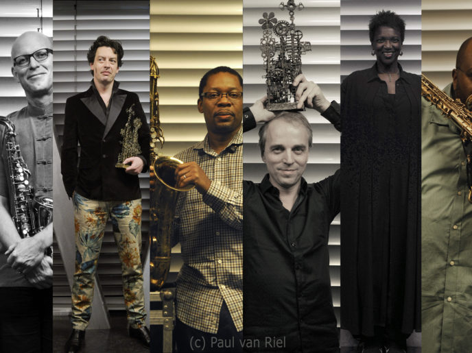 foto's van 6 verschillende muzikanten